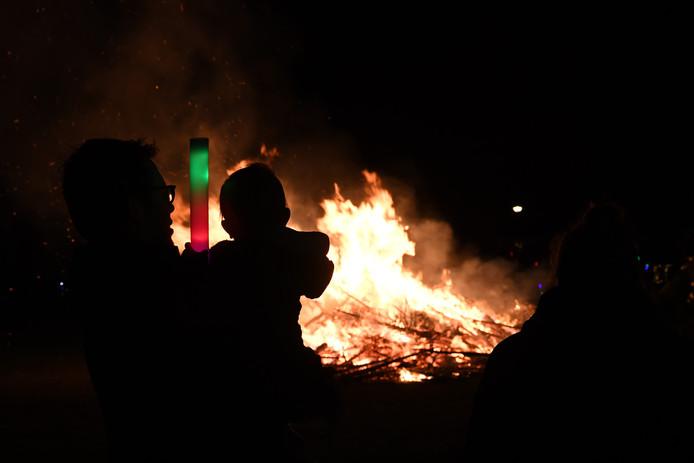 Kerstboomverbranding in Boeimeer
