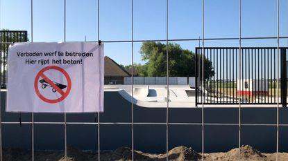 Opening skatepark uitgesteld door constructiefout