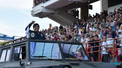 Maradona komt aan bij nieuwe club in halve tank