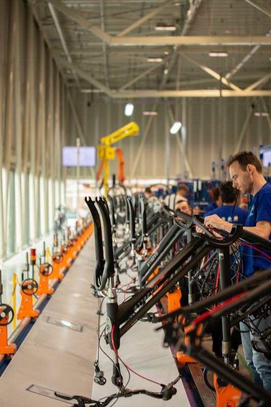 Montage van e-bikes bij Gazelle
