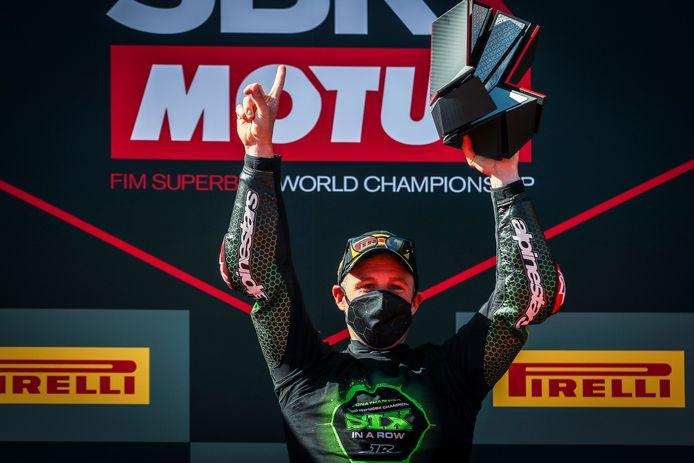 Jonathan Rea voor de zesde keer op rij wereldkampioen Superbike.