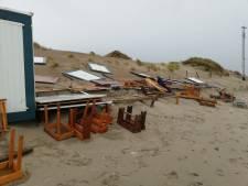 Strand Banjaard weer getroffen door grote zandafslag