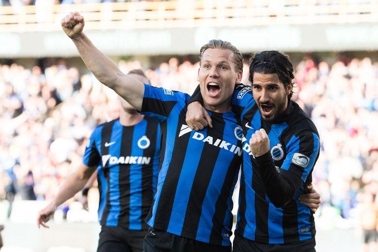 Ruud Vormer was trefzeker voor Club Brugge. Beeld null