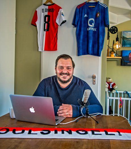 Rob maakt podcast over Feyenoord: 'Groepstherapie voor supporters, vooral als het slecht gaat'