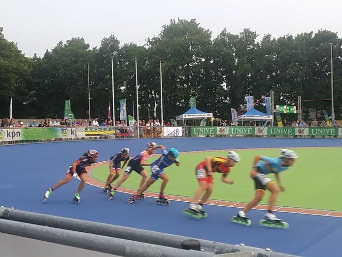De Nederlandse relayploeg inline-skaten
