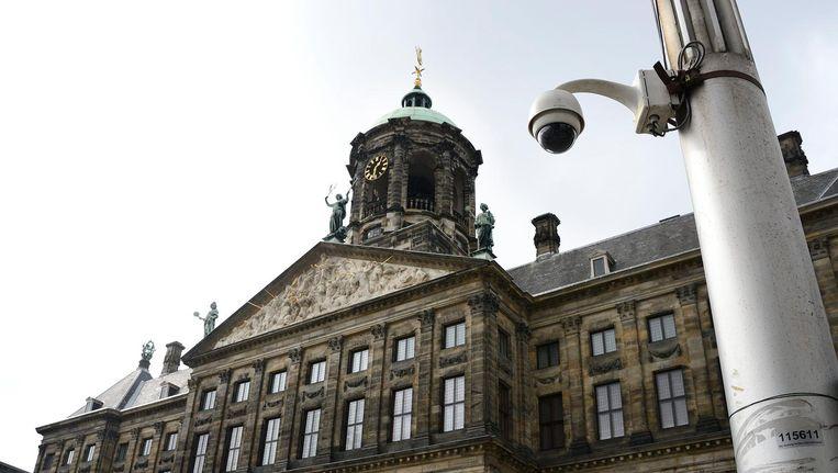 Archiefbeeld: beveiligingscamera's bij het Paleis op de Dam. Beeld anp