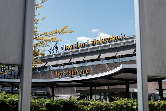 Hoofdingang van het Slingeland Ziekenhuis in Doetinchem.
