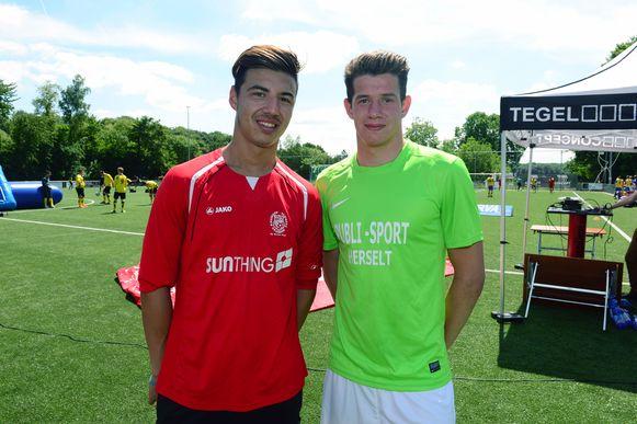 Dion Cools van Club Brugge en Nick Gillekens van OHL.