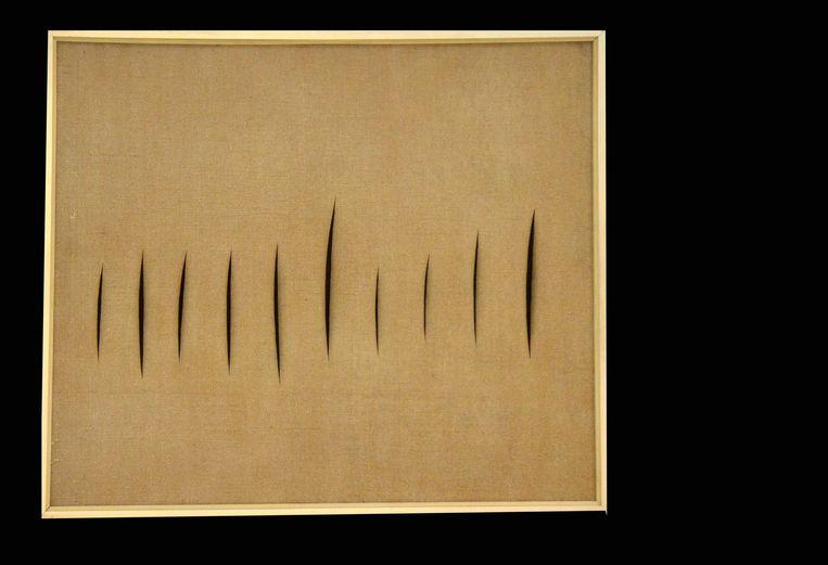 """""""Concetto spaziale"""" door Lucio Fontana"""