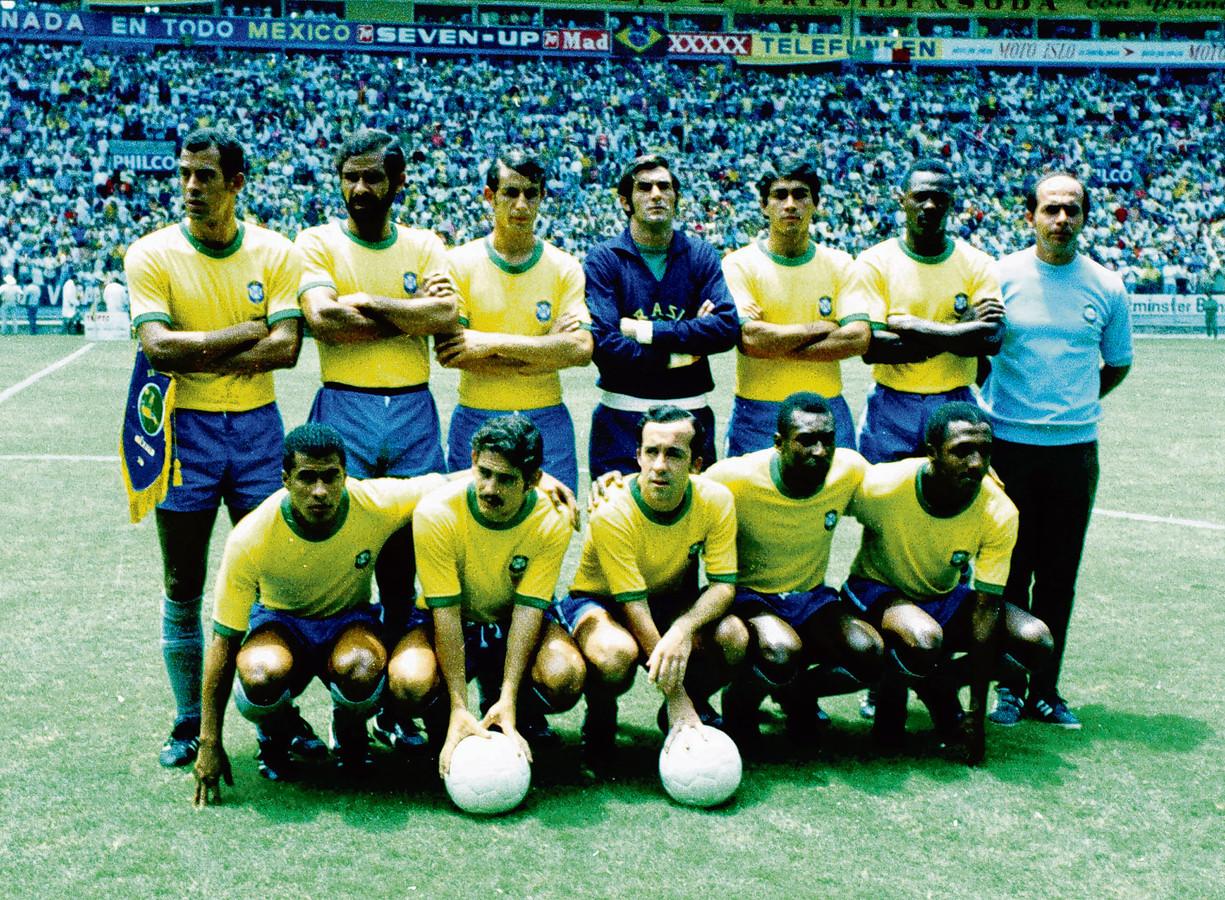 Brazilië op het WK 1970 in Mexico.