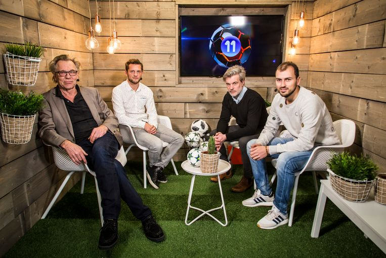 Van l naar r in onze VISTA!-studio: Jan Mulder, Mats Rits, Niko Lainé en Niels Poissonnier.