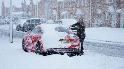 Eerste sneeuw verrast Britten