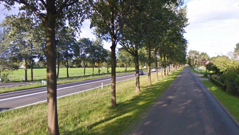 De N377 bij Nieuwleusen Beeld Google Streetview