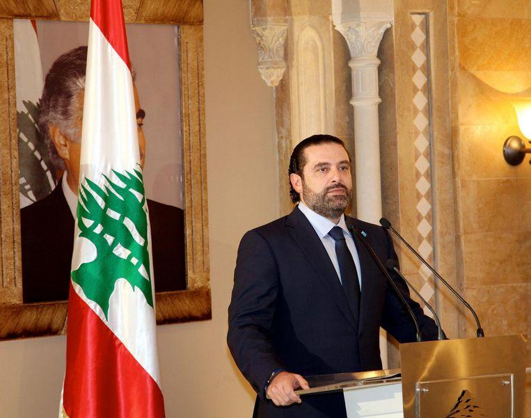 De Libanese premier Saad al-Hariri. Beeld null