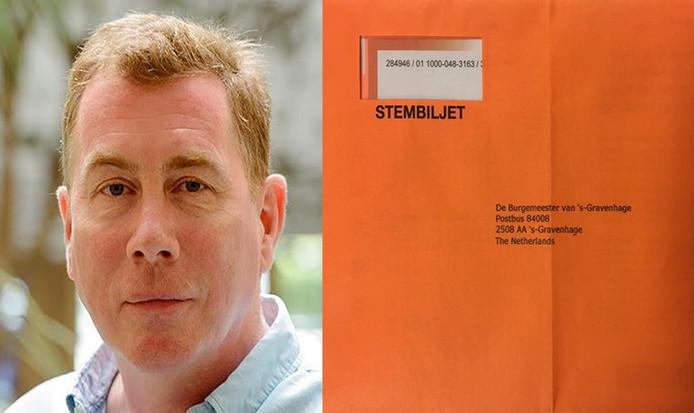 Wim Meijer heeft zijn stembiljet in Dublin op de post gedaan richting Den Haag. Beeldbewerking: Britt Scheggetman