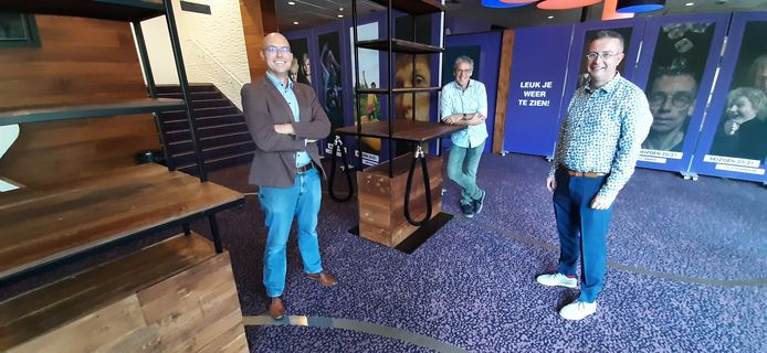 De bedenkers van de nieuwe Kring. Vlnr Christian Brander van Tausch, Hans van Avendonk van Fijnevent en Jan-Hein Sloesen van De Kring.