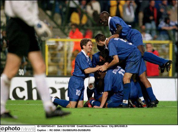 Genk versloeg Duisburg in 1998 met 5-0 op de Heizel.