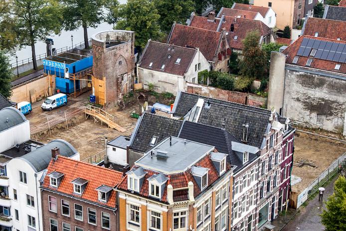 De bouwplaats waar filmtheater De Viking moet verrijzen.