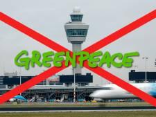 Protestival: klimaatactie Greenpeace op 'grote vervuiler' Schiphol
