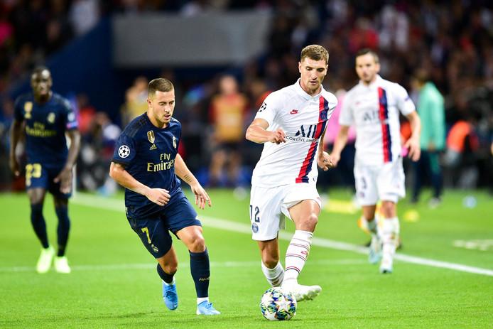 Eden Hazard et Thomas Meunier se retrouvent à Madrid.
