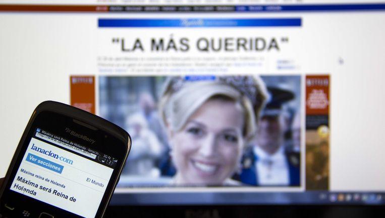 Reacties in de Argentijnse pers op het feit dat Máxima koningin wordt. Beeld ANP