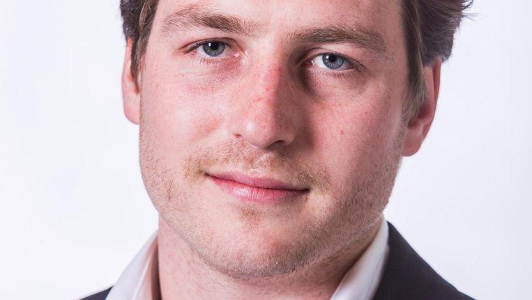 Reinier van Dantzig. De politicus instrueerde D66'ers over hoe te reageren op het regeerakkoord Beeld Rink Hof