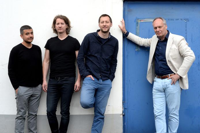 Kees Schafrat (rechts) met bassist Mihail Ivanov, drummer Jens Düppe en pianist Dimitar Bodurov, die op de cd meespelen.