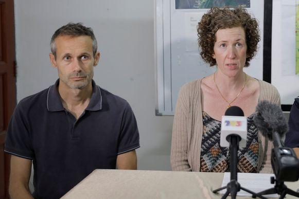 Sebastien en Meabh Quoirin, de ouders van Nora.