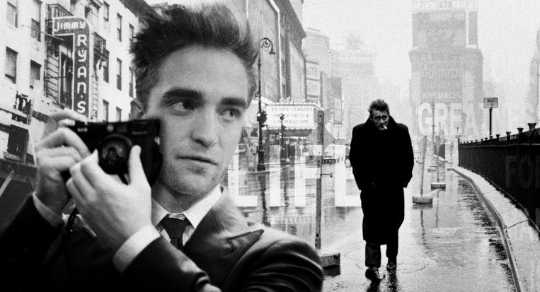 Dane DeHaan als James Dean en Robert Pattinson in Life. Beeld