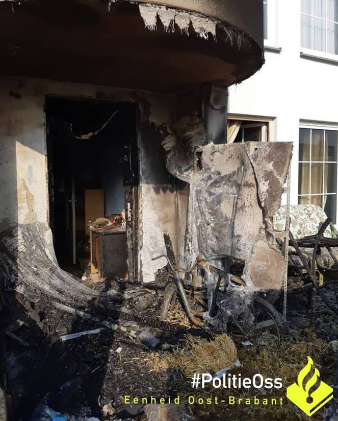 De woning heeft veel schade opgelopen.