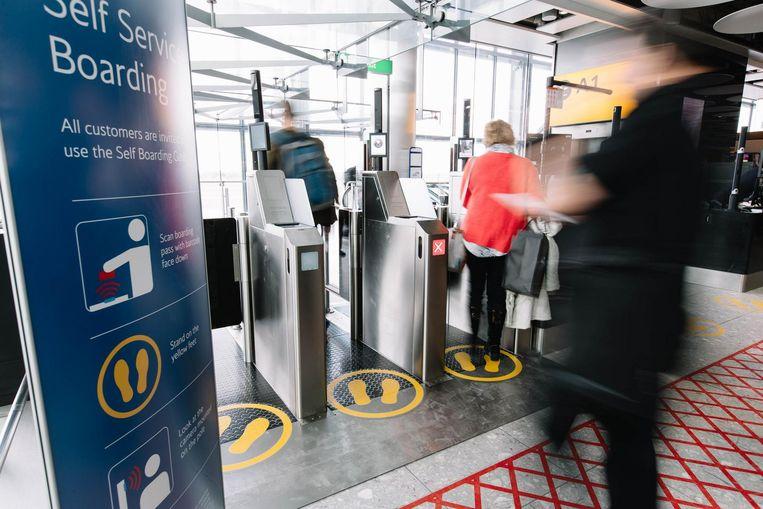 Biometrische toepassingen worden nu al gebruikt op luchthavens.