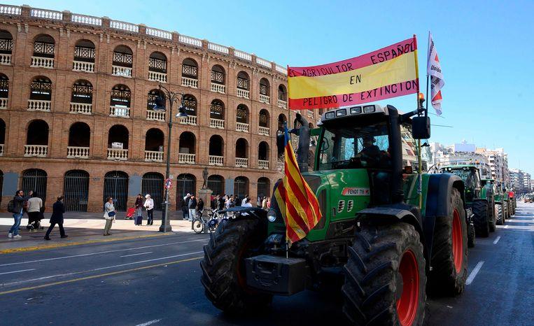 Het ging om een van de grootste boerenprotesten ooit in Spanje.