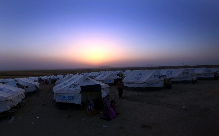 Een vluchtelingenkamp in de Koerdische regio in Irak. Beeld afp