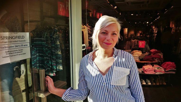 Nathalie Clarysse, gerante van de Springfieldwinkel in Brugge.