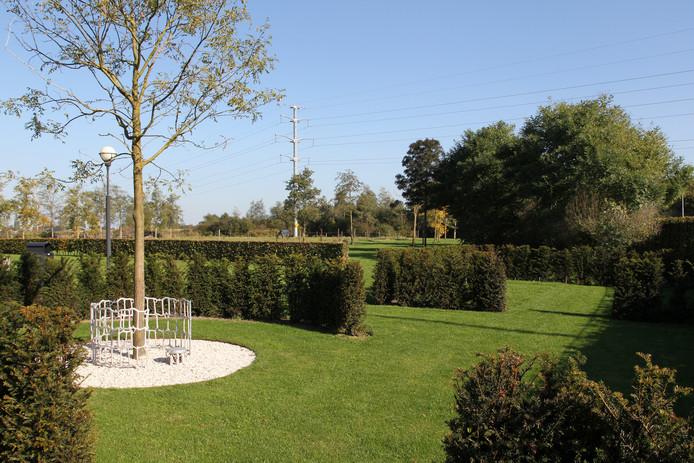 Een mooi veldje met een gedenkboom op begraafplaats Elzenhof voor kinderen die niet ouder zijn geworden dan 24 weken.