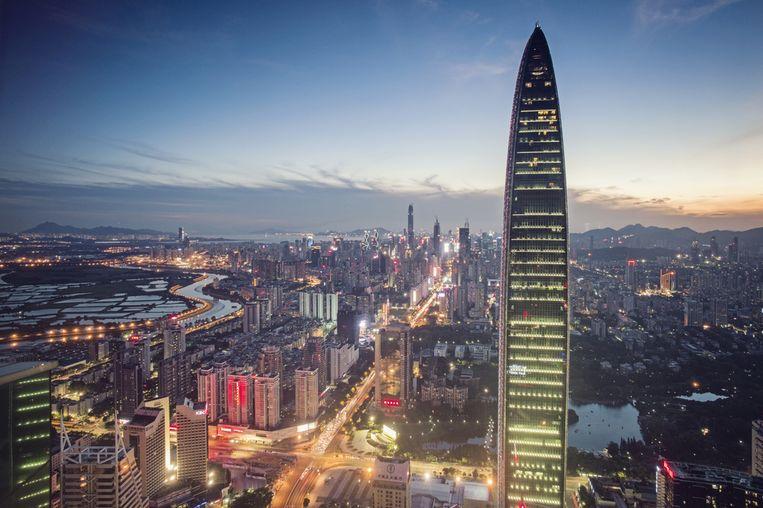 In Shenzhen, ook wel het Chinese Silicon Valley genoemd, zijn vorig jaar 15 gebouwen afgewerkt die hoger zijn dan 200 meter.
