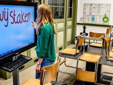 Meeste basisscholen staan pal achter staking