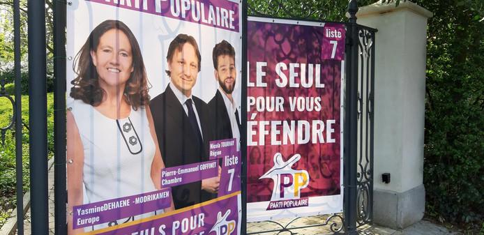 L'entrée du siège du Parti Populaire, avenue du Houx, à Watermael-Boitsfort.