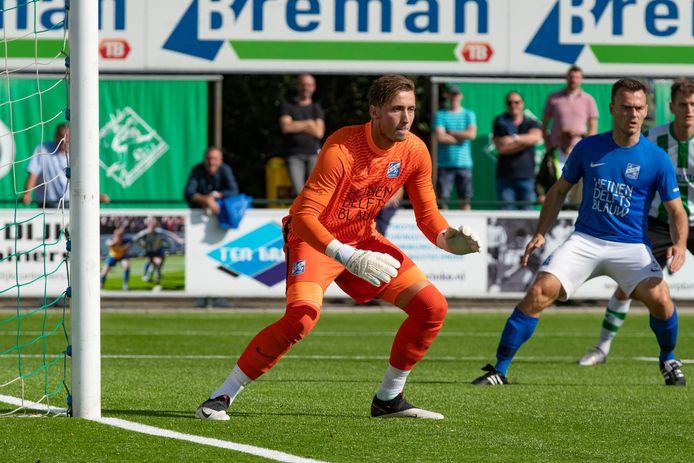 Martin van Barneveld, terug in het doel van SDC Putten.
