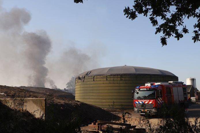 Brand bij boerderij aan de Liempdseweg in Boxtel.