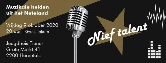 De finale van Nief Talent zal plaatsvinden op vrijdag 9 oktober 2020