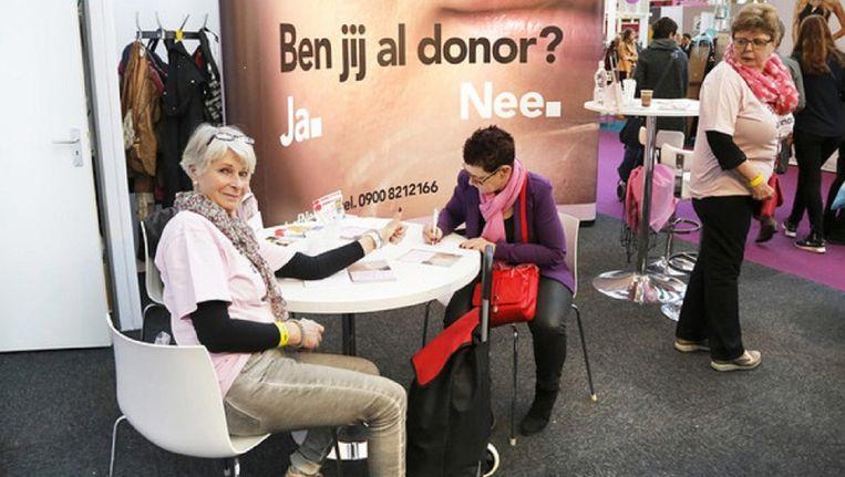 Donorregistratie op de huishoudbeurs. Beeld HH