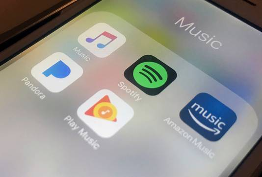 De concurrentie is fors: Apple Music, Amazon, Google en Pandora strijden naast Spotify om de gunsten van de consument