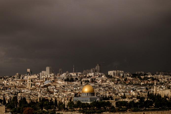 Jeruzalem gezien vanaf de Olijfberg.