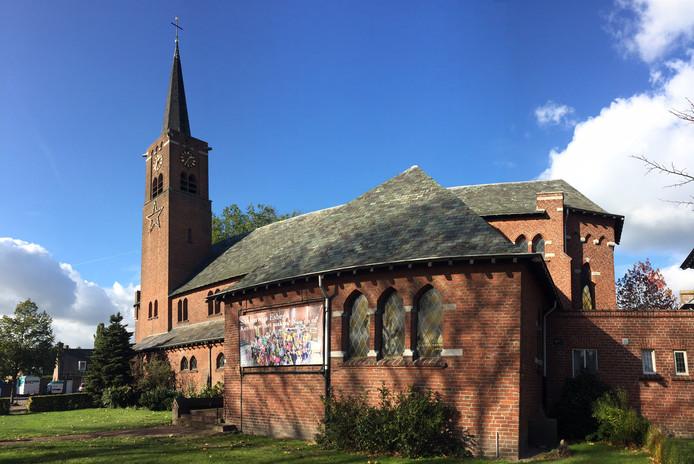 De kerk in de Dorpsstraat, Esbeek.