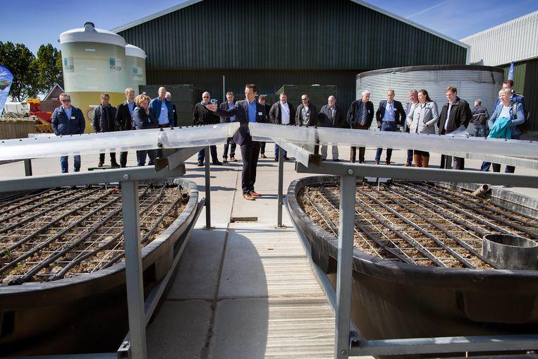 Bestrijdingsmiddelenfrabrikant Bayer opent een proefboerderij in Abbenes. Beeld Werry Crone