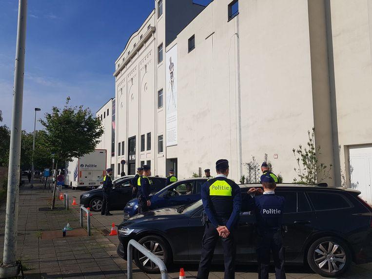 De verkeerscontrole vond plaats in de Leuvenstraat.