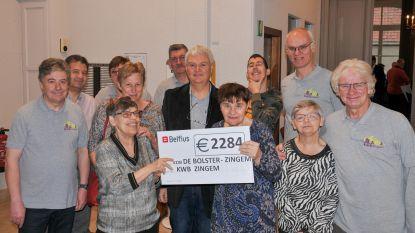 Wafelenbak en accordeonconcert van KWB Zingem brachten maar liefst 2.284 euro op voor De Bolster
