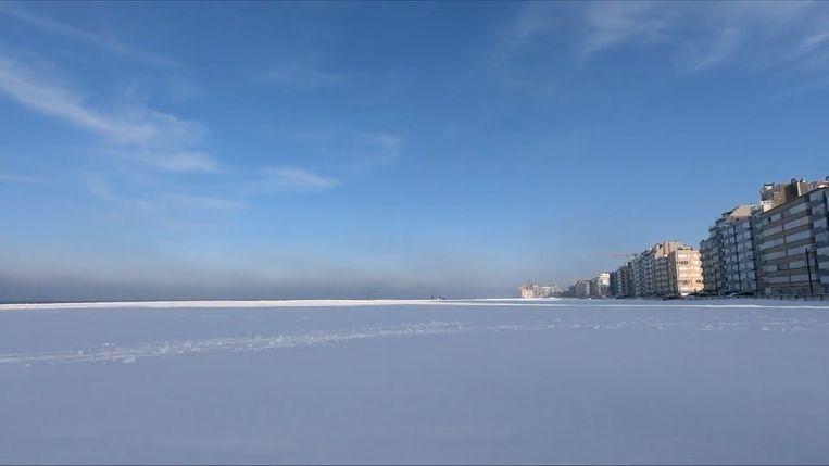 Snowkiten strand Knokke