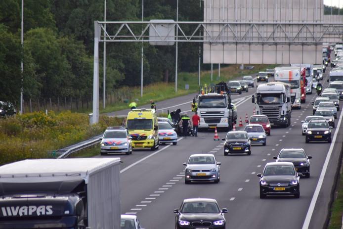 Het ongeluk gebeurde op de A1 bij Borne